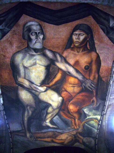Cortés And La Malinche 1926