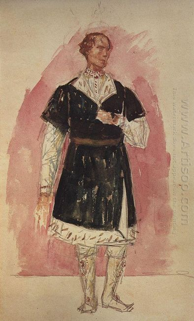 Costume Design For The Tragedy Of Pushkin S Boris Godunov 1923 1