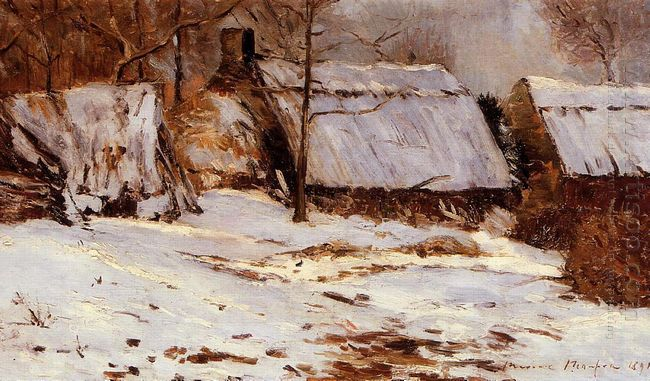 Cottages In The Snow 1891