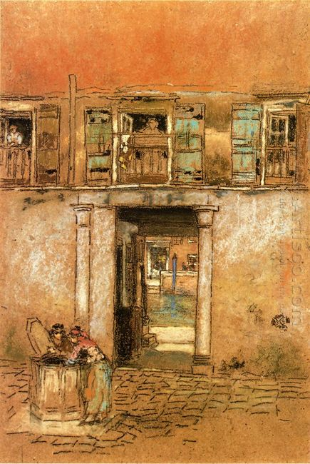 Courtyard And Canal 1880