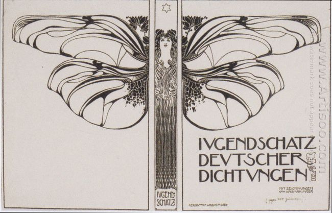 Cover Design For Ewart Felicie Jugendschatz German Seals 1897