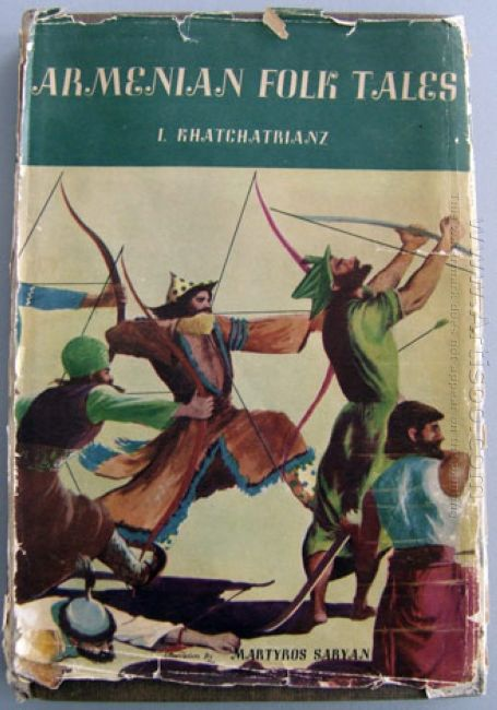 Cover Of Armenian Folk Tales By I Khatchatryantz 1946