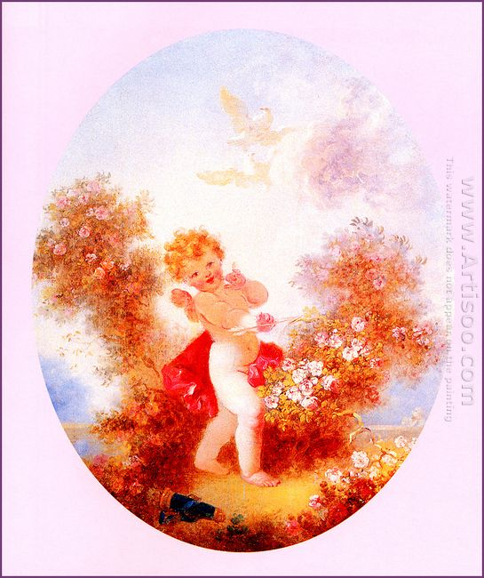 Cupid Between The Roses