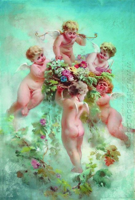 Cupids With Flowers