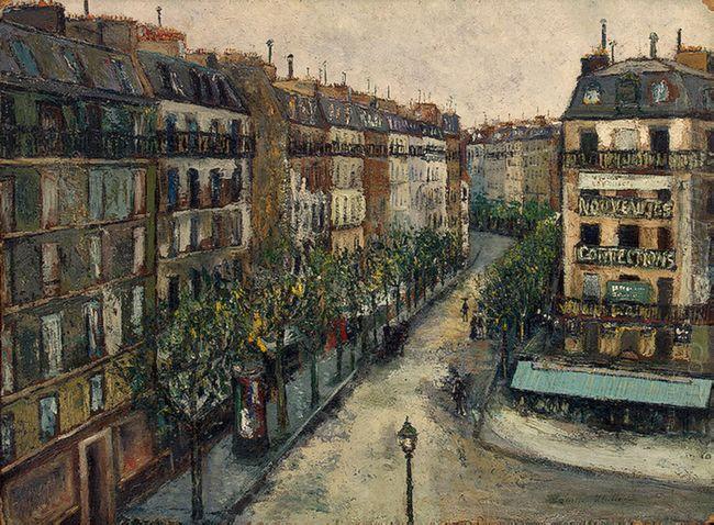 Custine Street Near Montmartre