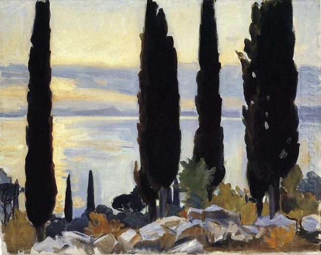 Cypress Trees At San Vigilio 1913