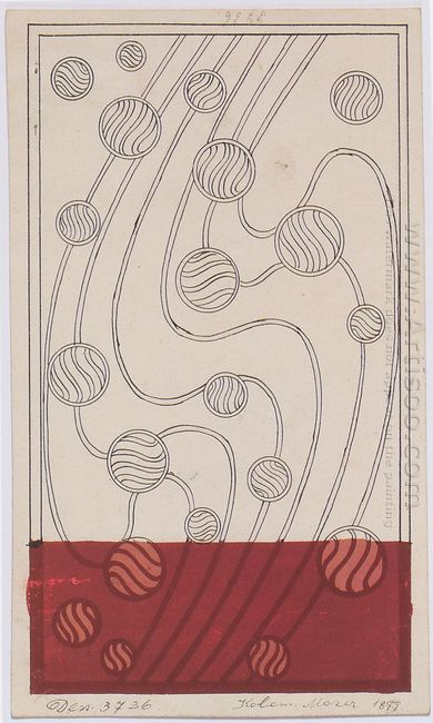 Daghestan Rug Design Bubbles For Backhausen 1899