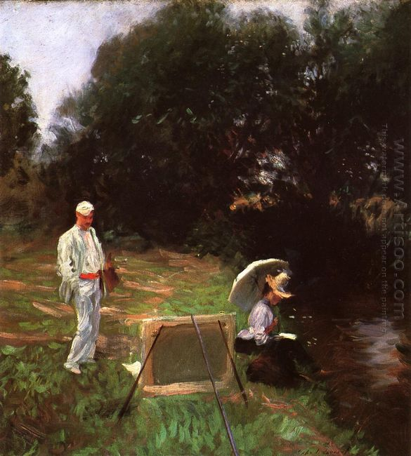 Dennis Miller Bunker Painting At Calcot 1888