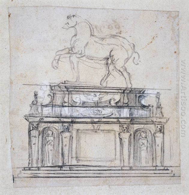 Design For A Statue Of Henry Ii Of France