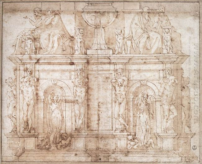 Design For Julius Ii Tomb Second Version