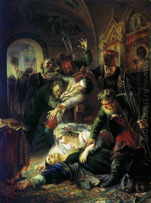 Dmitri The Pretender S Agents Murder The Son Of Boris Godunov