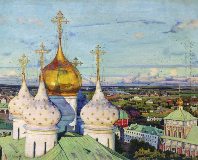 Domes And Swallows Assumption Cathedral Of The Trinity Sergius L