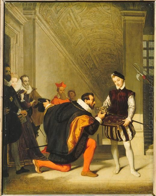 Don Pedro Of Toledo Kissing The Sword Of Henri Iv