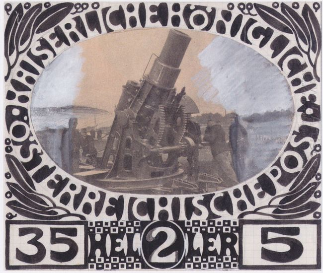 Draft For A War Charity Brand 1915