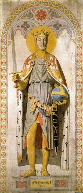 Duke Ferdinand Philippe Of Orleans As St Ferdinand Of Castile