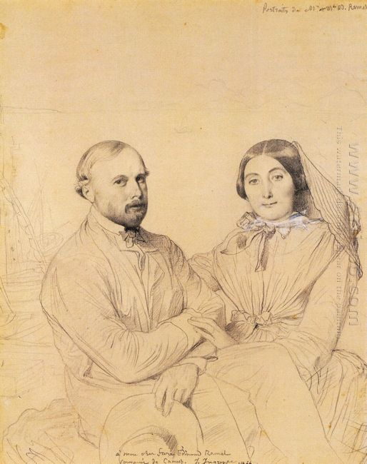 Edmond Ramel And His Wife Born Irma Donbernard