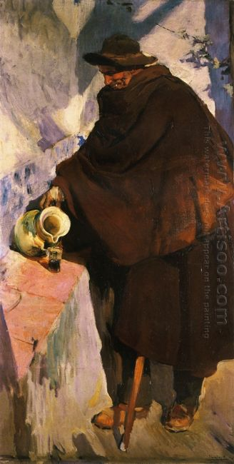 Elderly Castellano Pouring Wine 1907