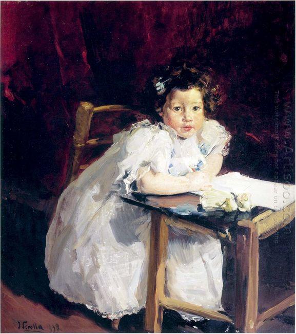 Elena At Her Desk 1898