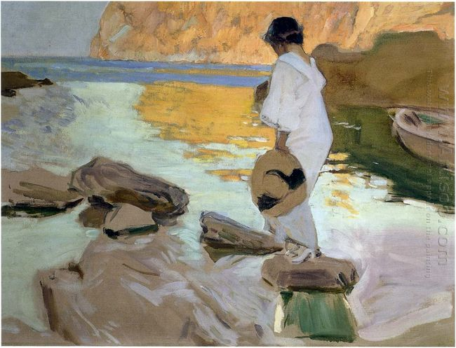 Elena In Cove San Vicente At Majorca 1919