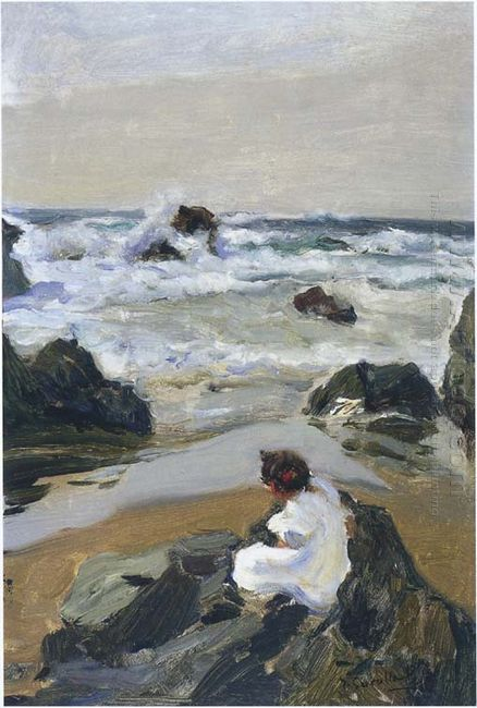 Elenita At The Beach Asturias 1903