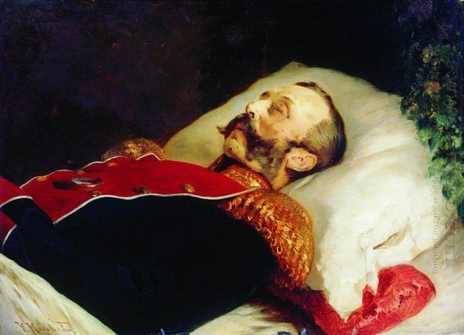 Emperor Alexander Ii On His Deathbed 1881