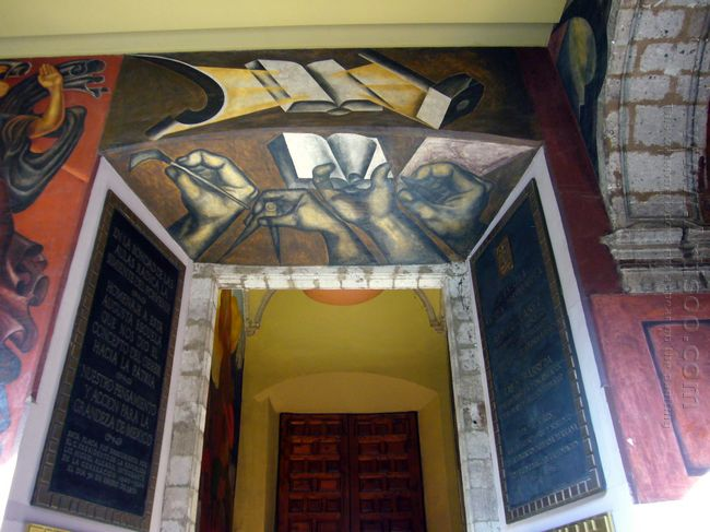 Entrance Of Colegio De San Ildefonso 1926