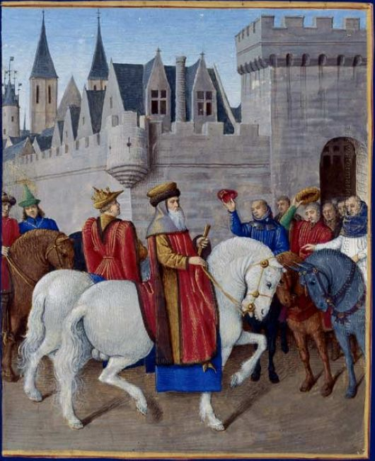 Entry Of Emperor Charles Iv In Cambrai 1460