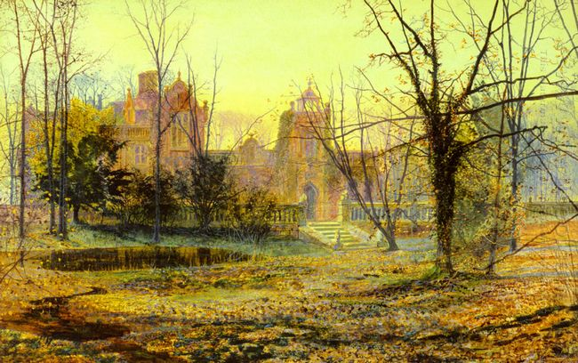 Evening Knostrop Old Hall 1870