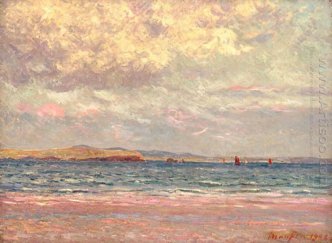 Evening Morgat Beach 1902