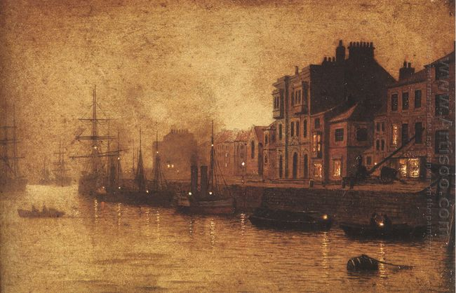 Evening Whitby Harbour 1893