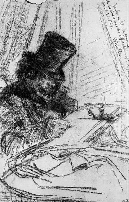 Fantin Latour Drawing Sun