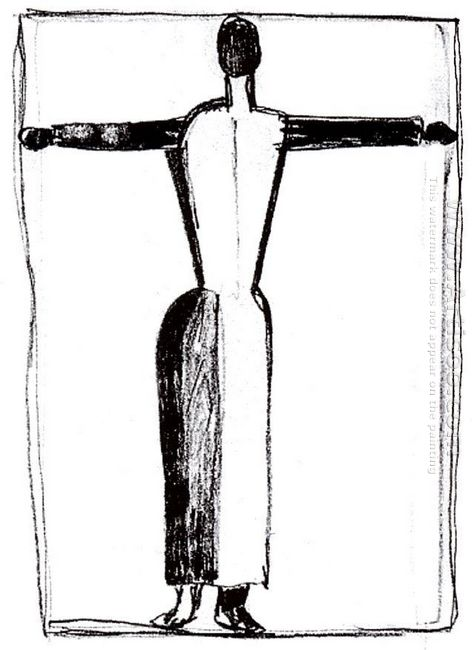 Figure In The Form Of A Cross With Raised Hands