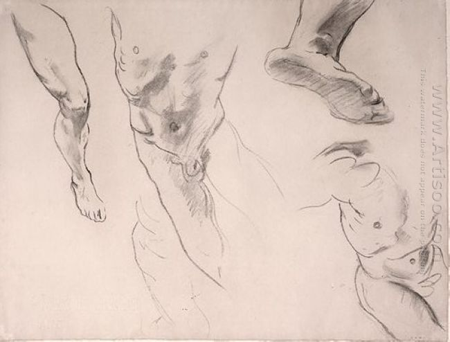 Figure Studies Of A Male Youth
