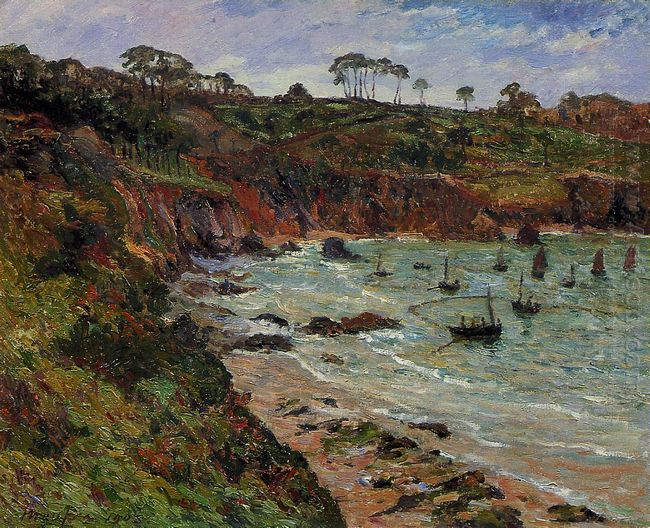 Fishing For Sprats In Winter At Douarnenez 1905