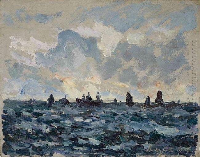 Fishing Sardine Boat 1909