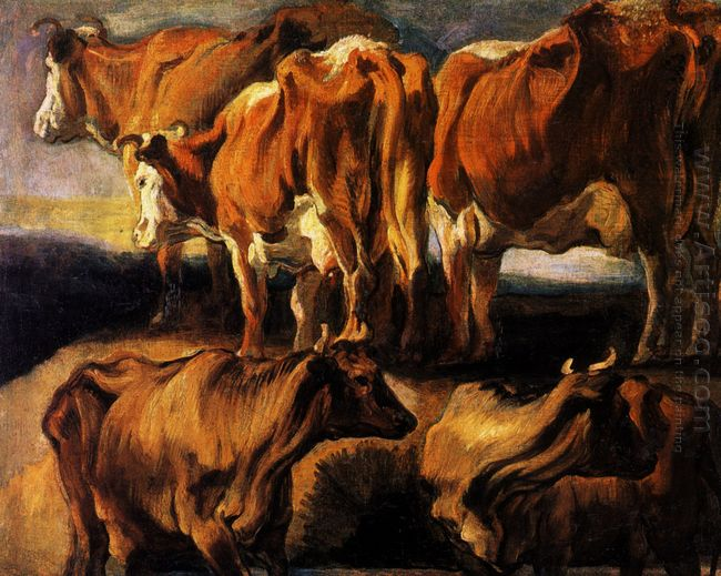 Five Studies Of Cows 1624