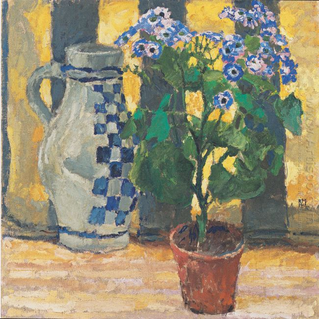 Flower Pot And Ceramic Jug 1912
