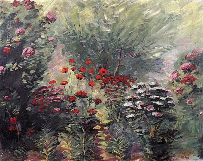 Flowers A Nook Of The Garden 1940