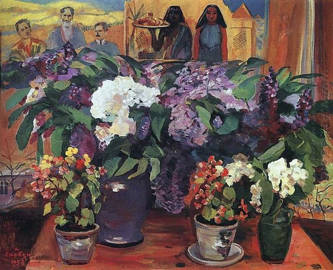 Flowers In The Workshop 1958