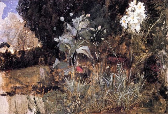 Flower Sketch For The Enchanted Garden 1916