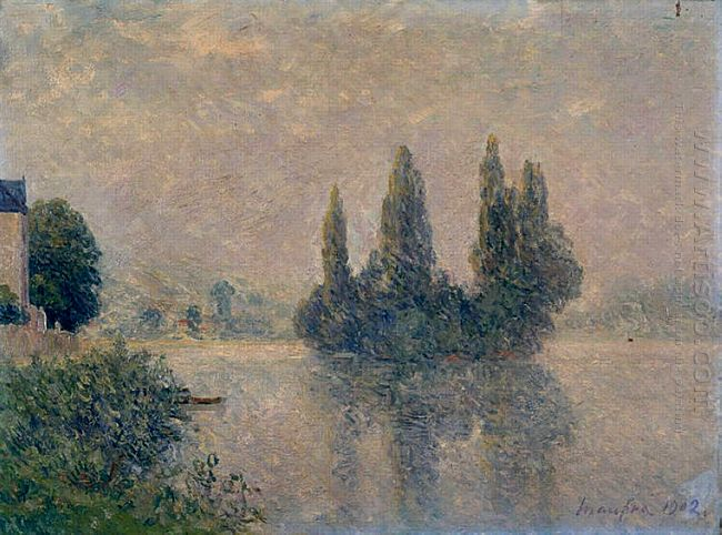 Fog On The Seine The Andelys 1902