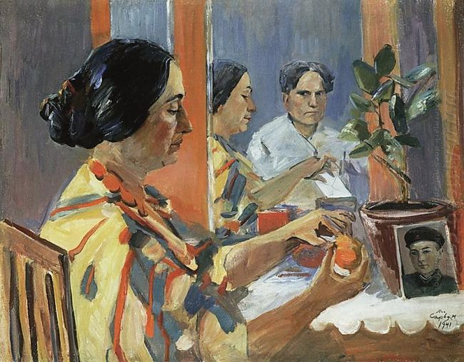 From The Artist S Life Portrait Of Lusik Saryan In Profile 1941
