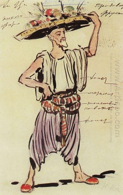 Fruit Seller Costume Design For Gartman S Ballet 1906