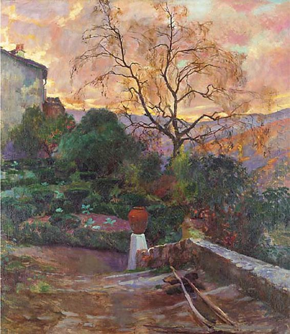 Garden Of Spanish Farmhouse 1909