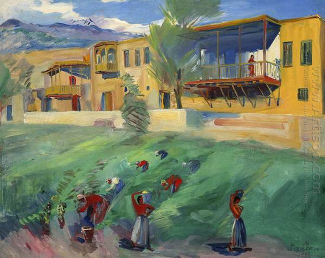 Gathering Of Grapes 1933