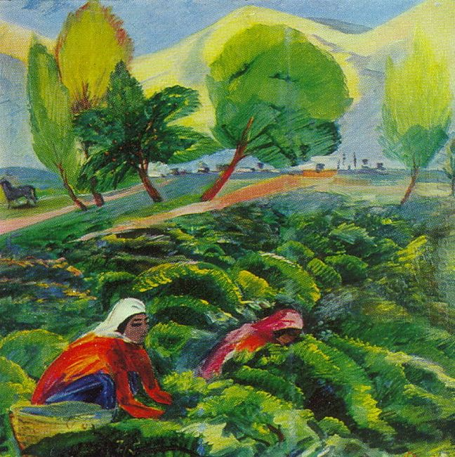 Gathering Of Grapes 1935