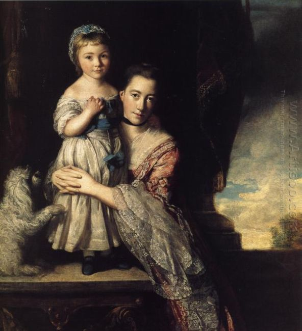 Georgiana Countess Spencer And Her Daughter 1761