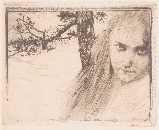 Girl In Landscape 1898
