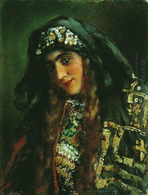 Girl In Oriental Dress