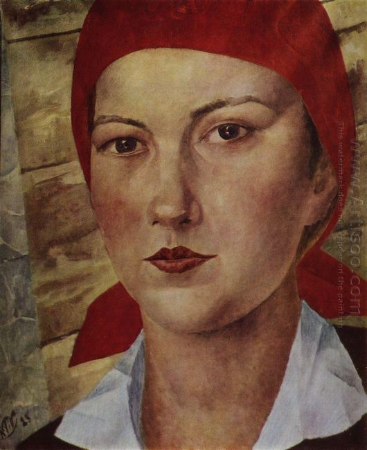 Girl In Red Scarf Worker 1925